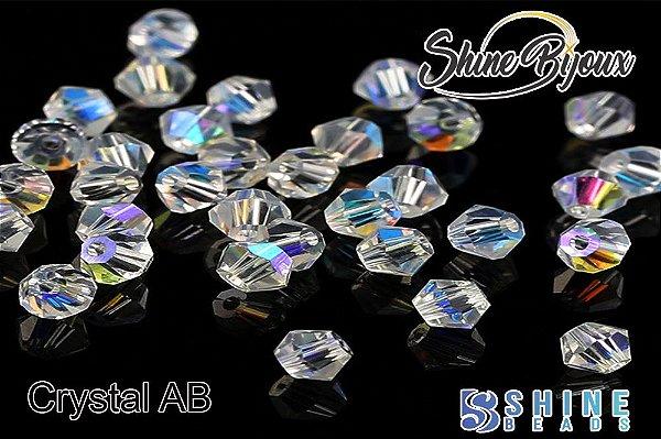 Cristal balão AB furta-cor 4mm Furo passante P/ bordados costura bijuterias  720pçs