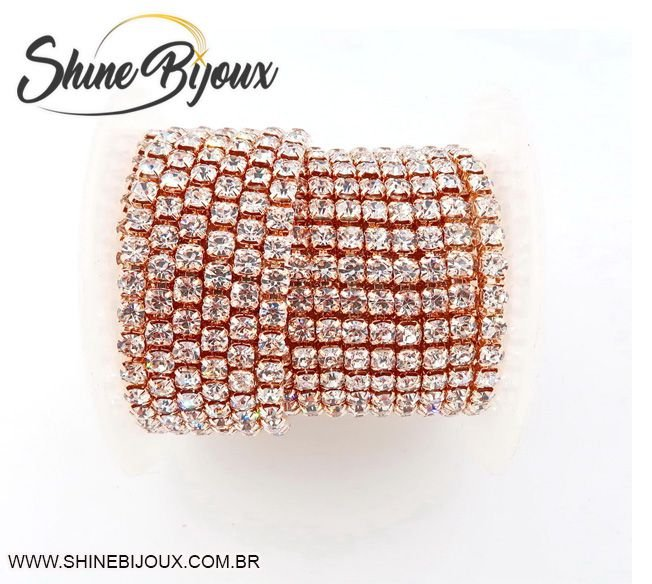 Strass em metro Rose Gold  ss 06 (PP-13 / 1,90mm)  Rolo 100mts Super Oferta