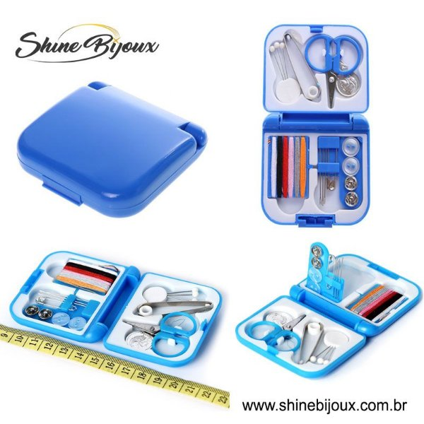 Mini kit de costura essencial 21 peças Shinebeads