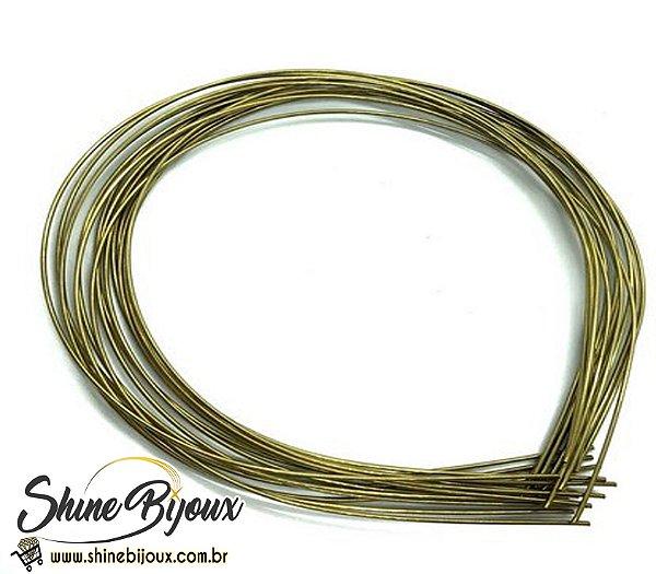 Tiara de arame arco 1.0mm para tubo de strass perolas multiuso aço carbono