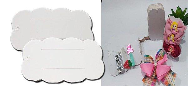 Tag nuvem papeleta embalagem  para laços bico de pato e hair clips 11x06 cm