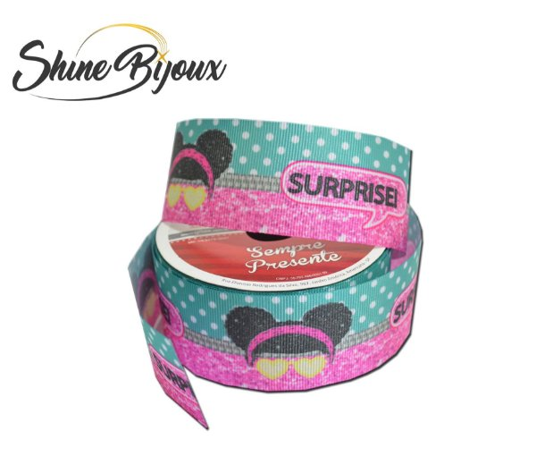 Fita gorgurão estampa Lol Surprise  Gitex® N˚09 (38mm) Rolo 10mts
