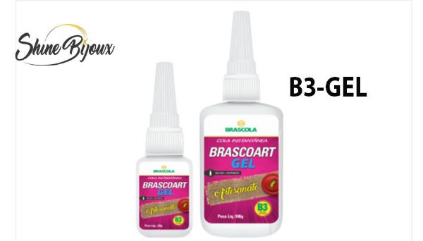 Cola instantânea Brascoart  B3 GEL  20g Super Forte