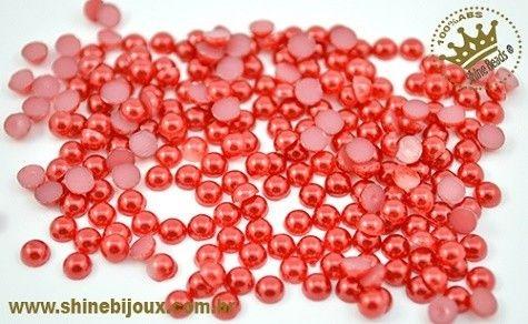 Meia Pérola ABS 3mm Shine Beads®   ESPECIAL FESTIVAL DE PÉROLAS E MEIAS PÉROLAS