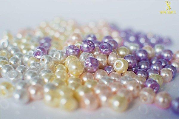 Botão de Pérola 8mm ABS Shine Beads®