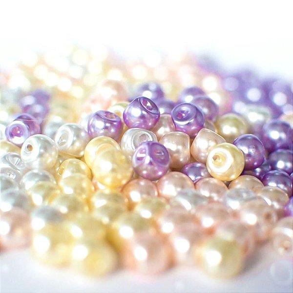 Botão de Pérola 6mm ABS Shine Beads® ESPECIAL FESTIVAL DE PÉROLAS E MEIAS PÉROLAS