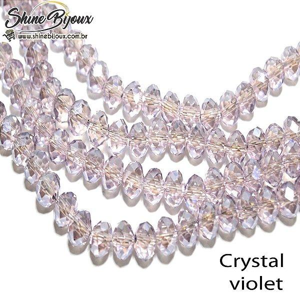 Cristal oval em fio 8mm transparente com furo passante para tiaras bordados e bijoux