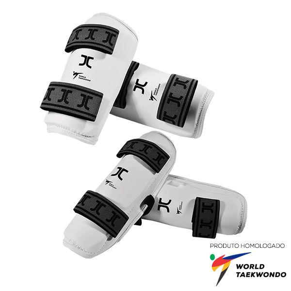Kit Protetor de Antebraço e Canela JCalicu homologado World Taekwondo