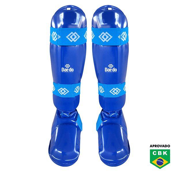 Protetor de Canela e Peito do Pé Removível Daedo Azul Homologado CBK