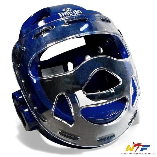 Protetor de Cabeça Daedo Azul com Grade Oficial WTF