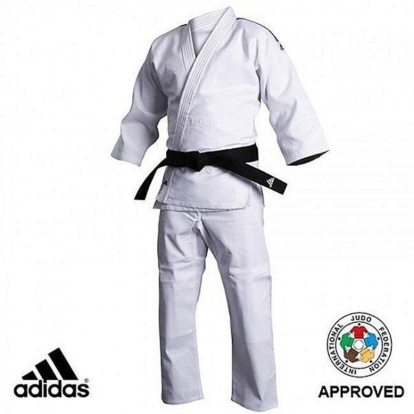Judogi Kimono Judo Adidas J500 Adulto Branco