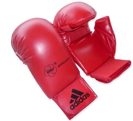 Luva Adidas Karate Vermelha com polegar