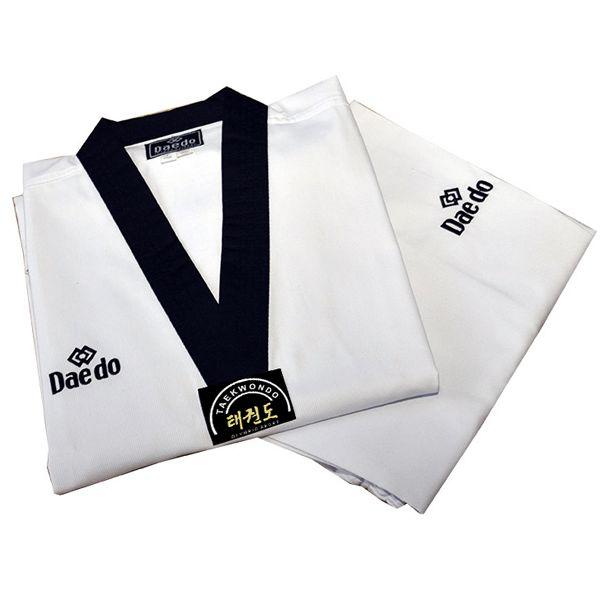 Dobok Kimono Taekwondo Daedo Elite Gola Preta