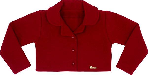 Casaco Teen de Lã Batida Vermelho