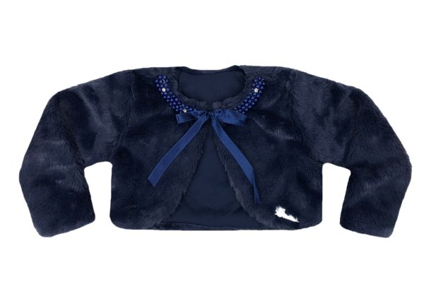 Casaco Teen Azul de Pele Redonda c/ Bordado
