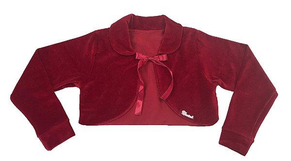 Casaco Infantil Plush Redondo c/ Gola