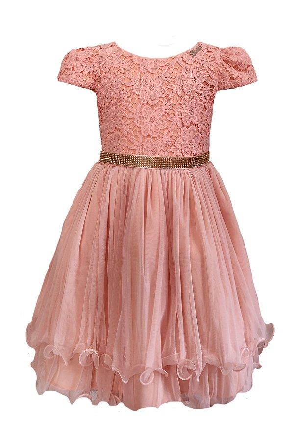 Vestido Infantil c/ Guipir no Peito