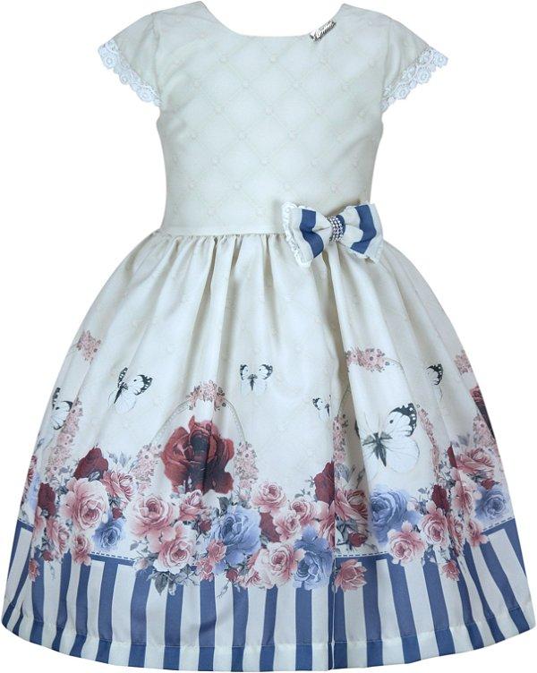 Vestido Infantil c/ Barrado