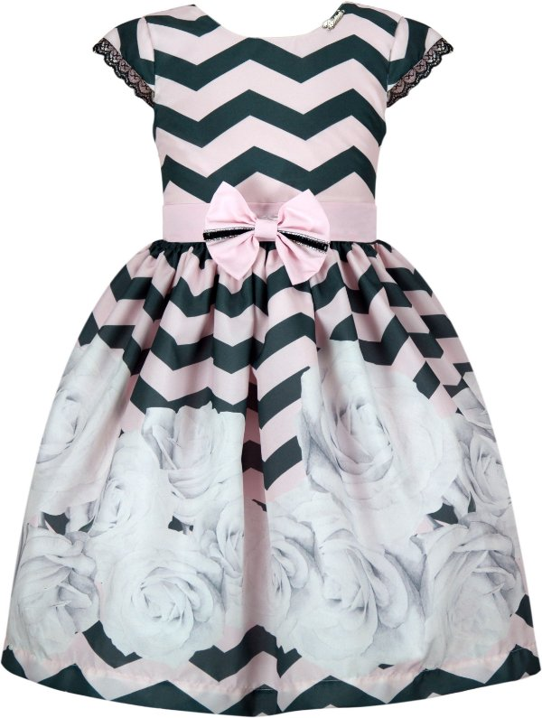 Vestido Infantil Casual Zigzag