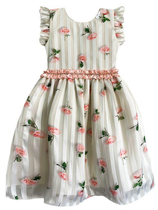 Vestidos Infantil Listas e Flores