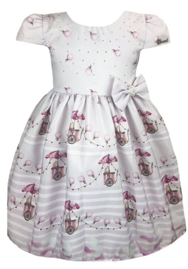 Vestido Infantil algodão doce