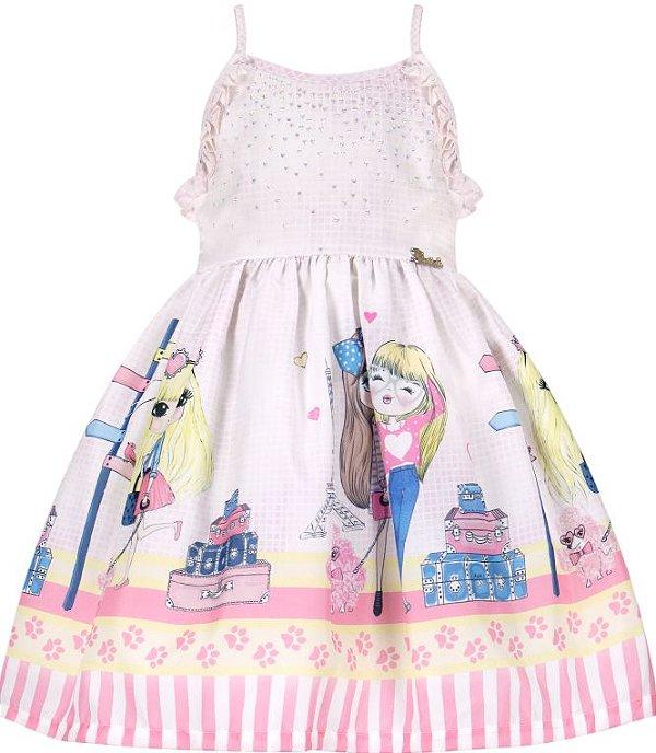 Vestido infantil de alcinha