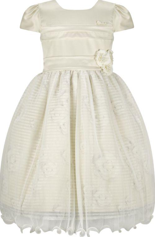 Vestido Infantil Casual c/ peito de pregas