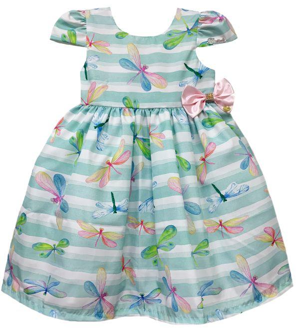 Vestido Infantil libélulas