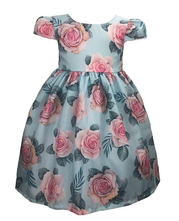 Vestido infantil estampa floral