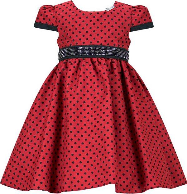 Vestido Infantil Temático Minnie/Ladybug/Joaninha