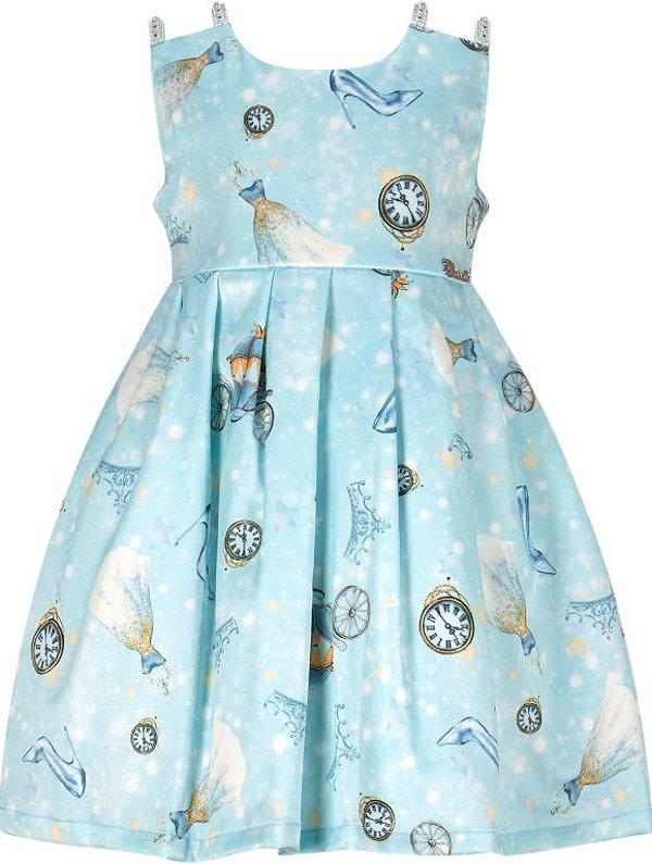 Vestido Infantil com estampa tema princesas