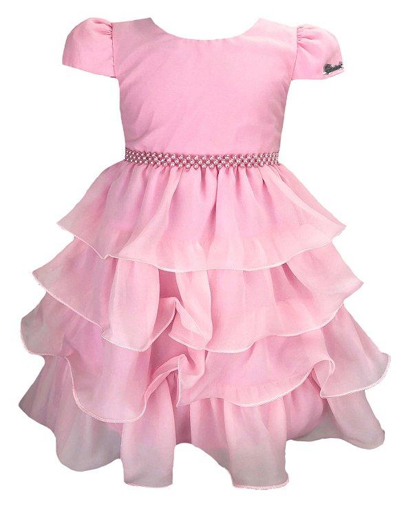 Vestido Infantil com saia de babados