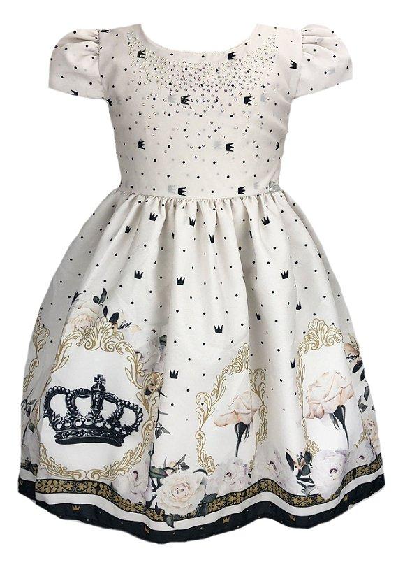 Vestido Infantil Coroas