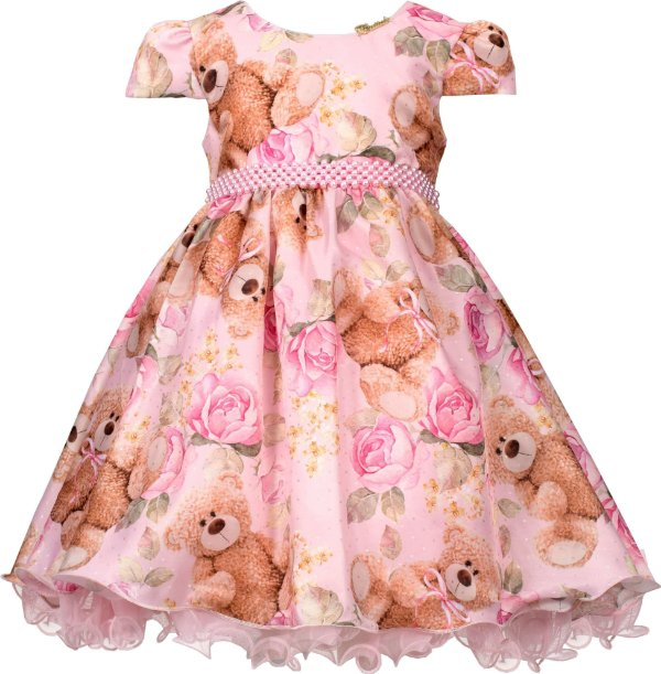 Vestido infantil Estampa de Urso