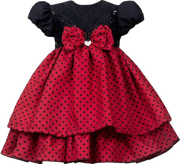 Vestido infantil Minie / Ladybug / Joaninha
