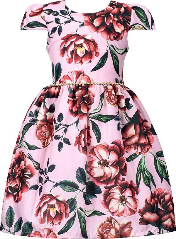 Vestido Teen Rosa Estampado