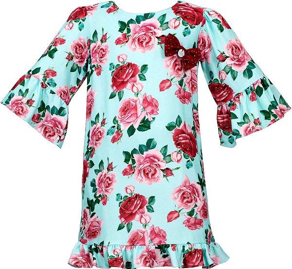 Vestido Teen Azul Floral