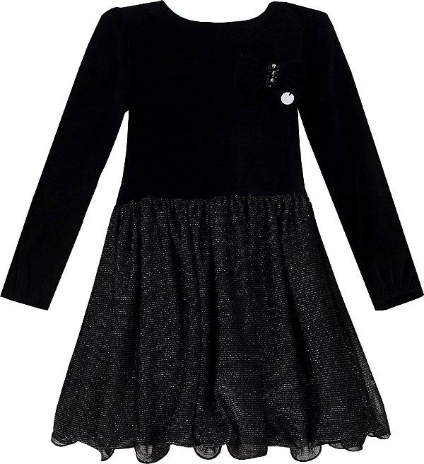 Vestido Juvenil com saia de Brilho