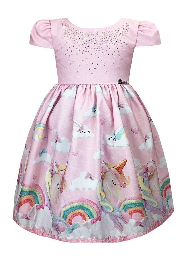 Vestido Infantil Unicórnio