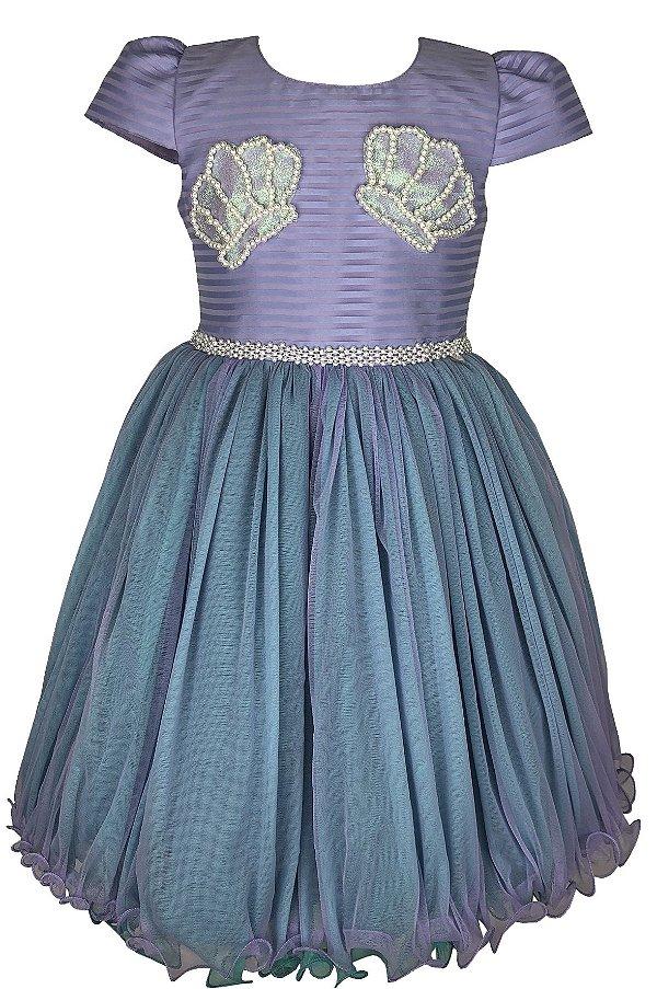 Vestido Infantil Sereia