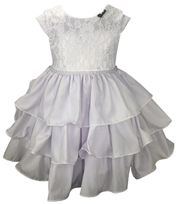 Vestido Bebê Branco com Babados