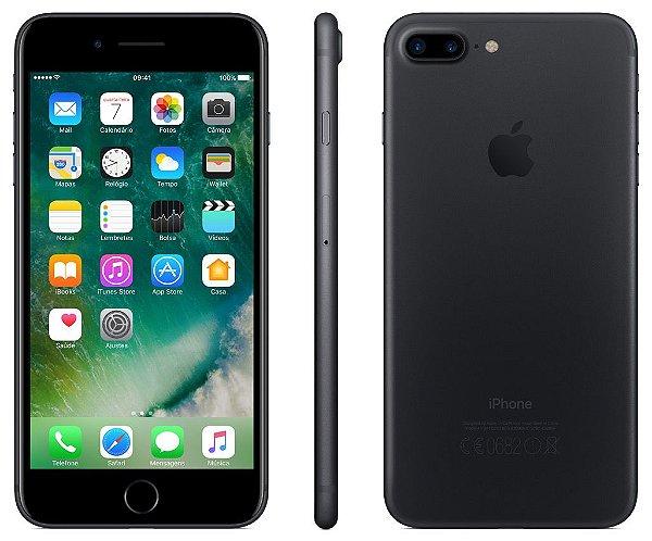 146a9184ff1 iPhone 7 Plus Preto Fosco 32gb Nacional Homologado Garantia 1ano ...