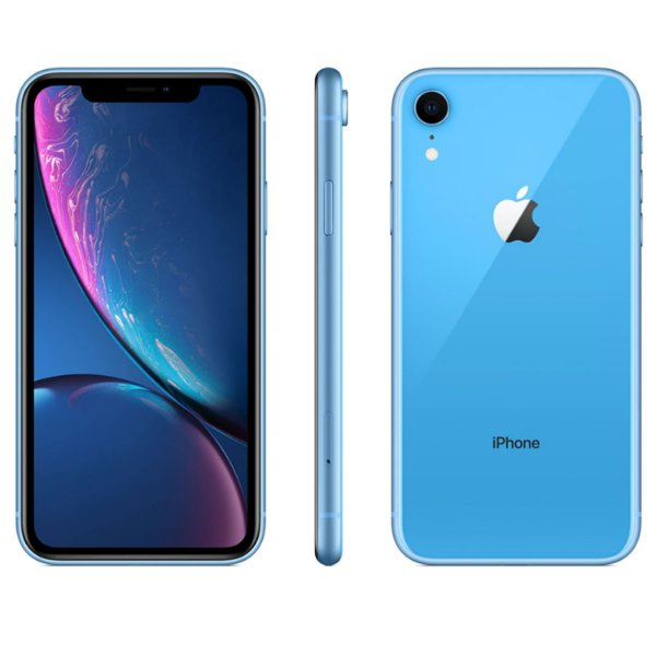 "iPhone XR Azul Apple | Tela Retina 6,1"", 4G, 64GB e Câm. Dupla 12MP - Resistente à Água"