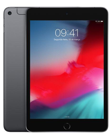 iPad mini Apple, Tela Retina, 256GB, Cinza Espacial, Wi-Fi + Celular (2019)