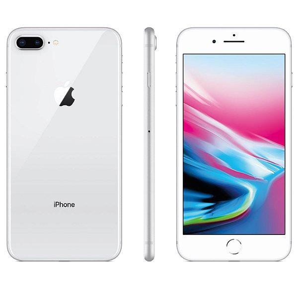 "iPhone 8 Plus Prateado Apple 128GB | Tela Retina 5,5"" - Câm. Dupla 12MP - Resistente à Água"