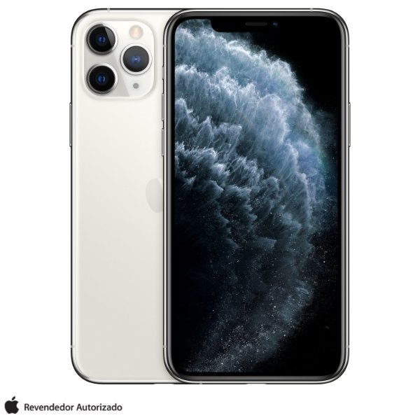 "iPhone 11 Pro Prata 64GB | Tela  Super Retina 5,8"" - Câmera Dupla 12MP + Selfie 12MP"