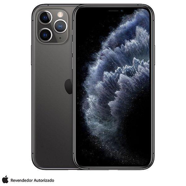 "iPhone 11 Pro Cinza Espacial 512GB   Tela Super Retina 5,8"" - 4G, Câmera Dupla 12MP + Selfie 12MP"