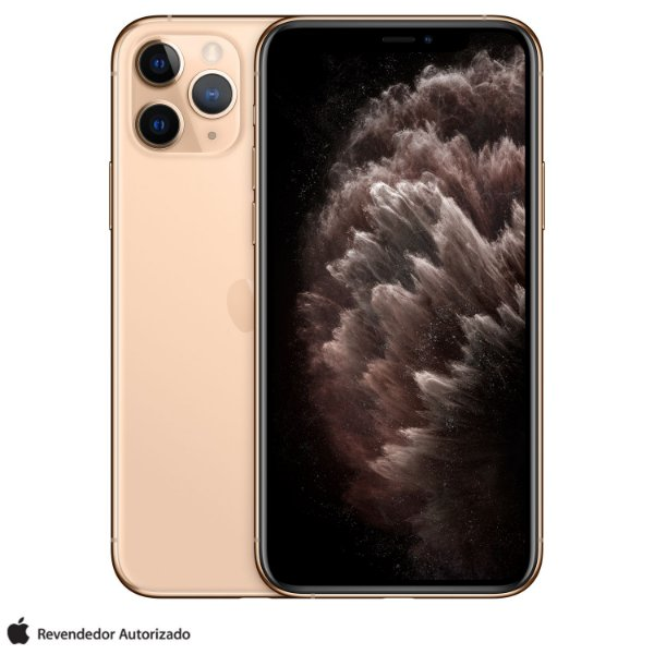 "iPhone 11 Pro Dourado 64GB | Tela Super Retina 5,8"" - 4G, Câmera Dupla 12MP + Selfie 12MP"
