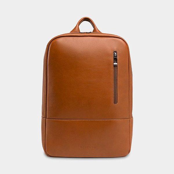 Mochila de couro para notebook NW089A Caramelo | Nordweg - Garantia Vitalícia