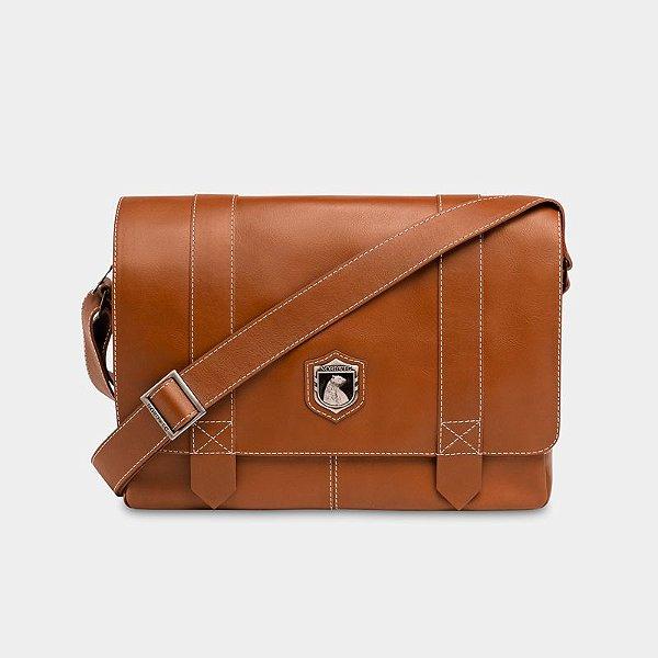 Bolsa de couro Nordweg Schuster | Caramelo NW066 - Garantia Vitalícia